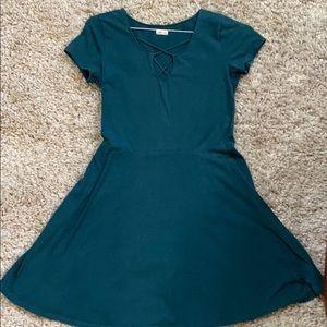 Hollister M Dress In Jade Green